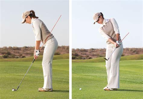 golf swing left shoulder down learn like a pro golf tips magazine