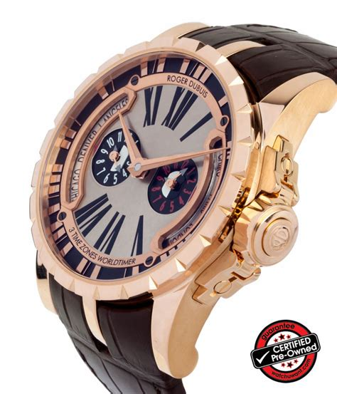 sold listing roger dubuis excalibur world time ref ex45 1448 50 00 0rr00 b