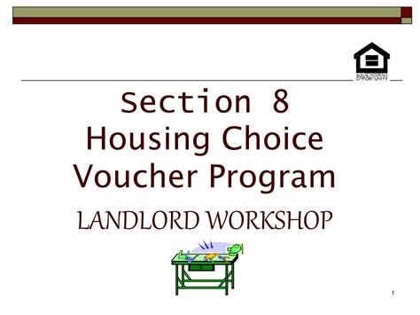 section 8 program application ppt section 8 housing choice voucher program landlord