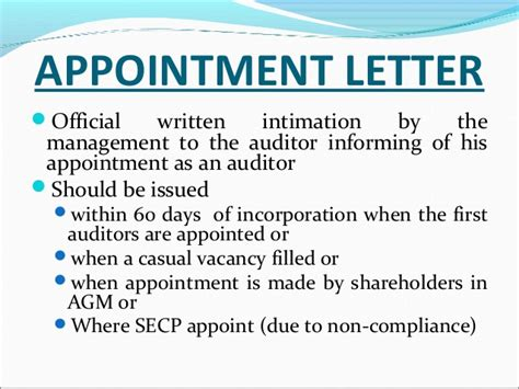 appointment letter to auditor after agm appointment letter of auditor 28 images appointment