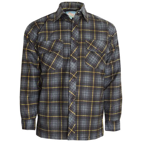 Quilted Work Shirts by Mens Check Lumberjack Thick Padded Quilted Warm Winter