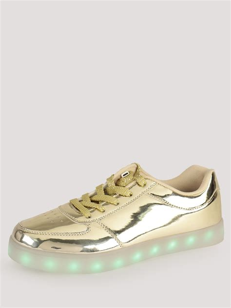 light up shoes india buy koovs metallic light up trainers for s