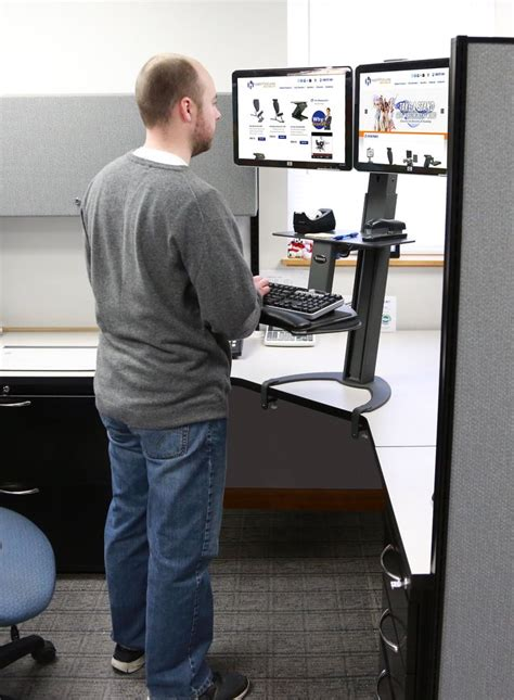 standing desk for cubicle 9 best cubicle standing desk series images on