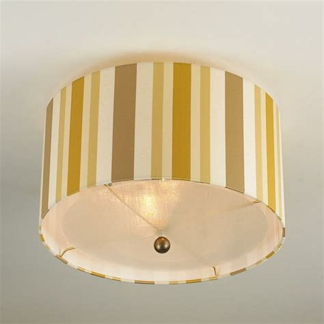 Gold Ceiling Light Shades by Gold Stripe Shade Ceiling Light Unique Ceiling Lights