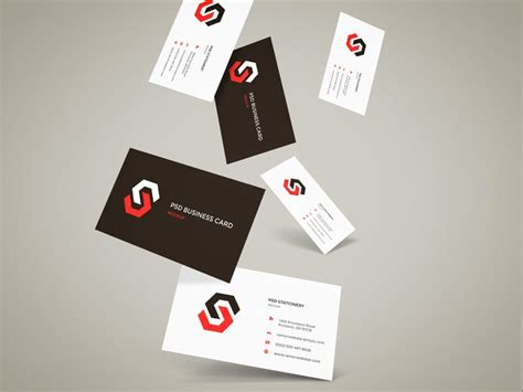 Reward Cards Template Mock Up by Flying Business Cards Mockup Free Psd Psd