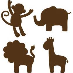 Animal Silhouettes Templates by Nursery Animal Wall Lolly