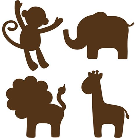 printable jungle animal silhouettes nursery animal wall art lolly jane