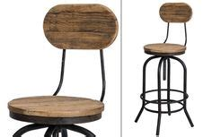 Stool For Afb by Industrial Bar Stool With Elm Wood Swivel Seat