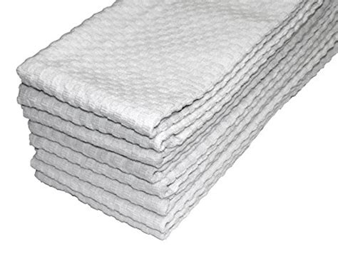 Waffle Weave Kitchen Towels by Cotton Craft 8 Pack White Eurocafe Waffle Weave Terry