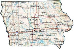 Map Of The State Of Iowa by Map Of Iowa Ia State Map