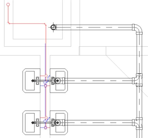 revit tutorial notes how to mix 1 line and 2 lines pipes in revit mep views