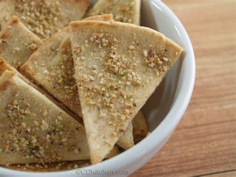 pistachio pita wedges recipe cdkitchen