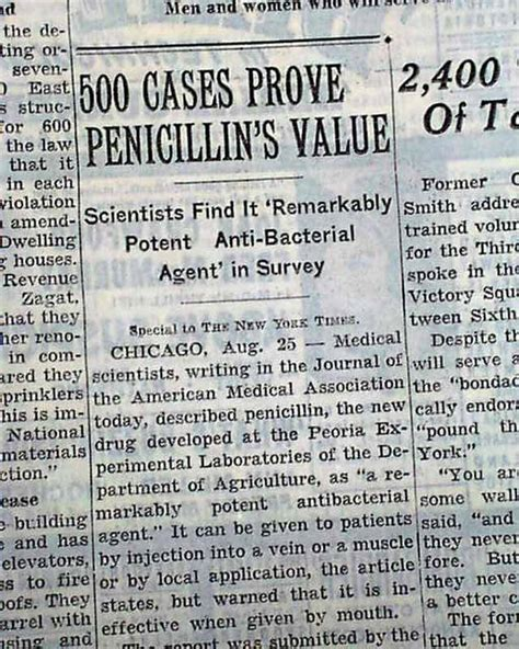 Re The Dis Very Of Penicillin  Wwii