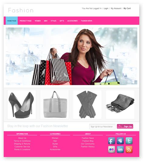 Fashion Store Template fashion store template templates dmxzone