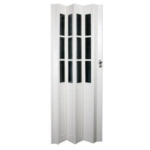 accordion doors interior home depot ltl home products 32 in x 80 in devonshire vinyl white