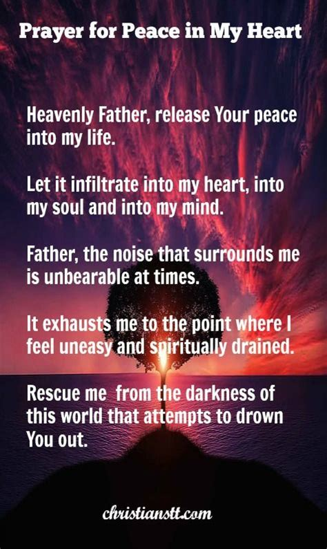 Prayer For Peace Of Mind And Comfort by 1000 Ideas About Pray For Peace On Prayer
