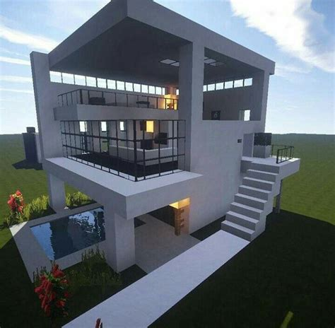 cool building designs minecraft biome modern house build minecraft