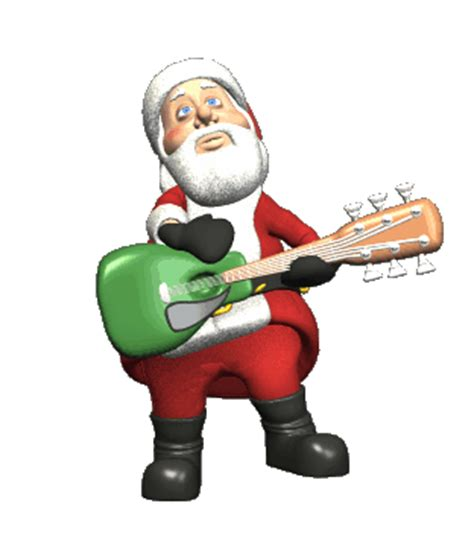 animated santa claus singing picture