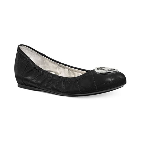 michael kors shoes fulton flats michael kors michael fulton quilted ballet flats in black