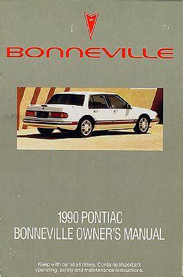 car owners manuals for sale 1990 pontiac bonneville electronic throttle control 1990 pontiac bonneville original owner manual le se sse