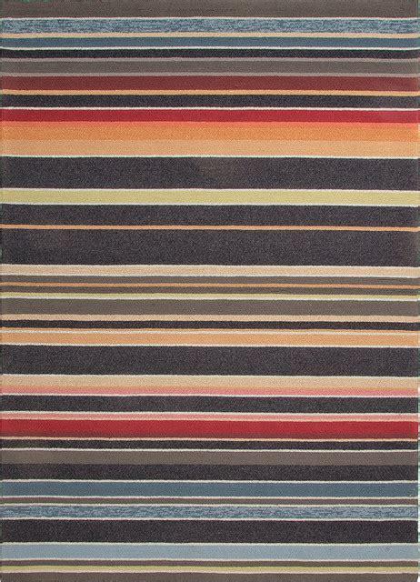 Stripe Pattern Blue Indoor Outdoor Rug Co03 7 6x9 6 6x9 Indoor Outdoor Rug