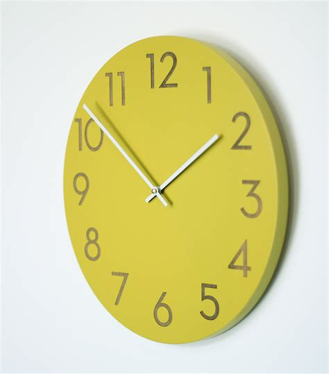modern wall clock 14 inch large modern wall clock