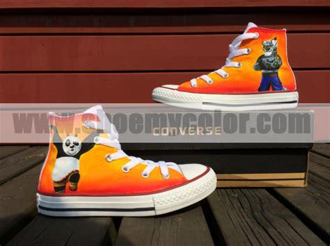 kung fu panda slippers kung fu panda white high top painted converse canvas
