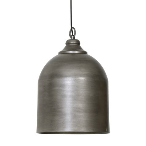 Light Living Maud Bell Pendant Light In Metal Fitting Metal Bell Pendant Light