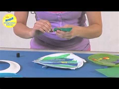 how to make a paper plate boat make your own paper plate boat port hole with the nesquik