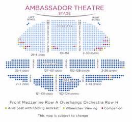 ambassador theater seating chart ambassador theatre shubert organization