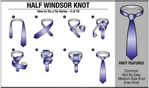 How To Tie Knots - how to tie a necktie tie tying chart 18 ways to tie a