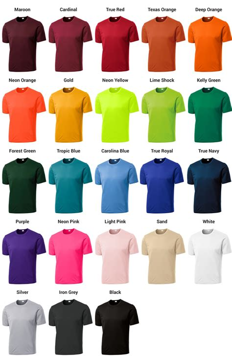 comfort color t shirt colors 7 best images of comfort colors t shirts color chart