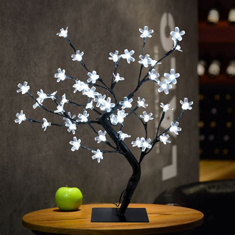 3x1 5ft 48led white cherry blossom tree light indoor