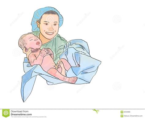 reflections of a midwife the miracle of birth books midwife and newborn royalty free stock photo image 6242895