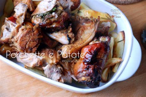 cucinare la porchetta porchetta e patate arrosto