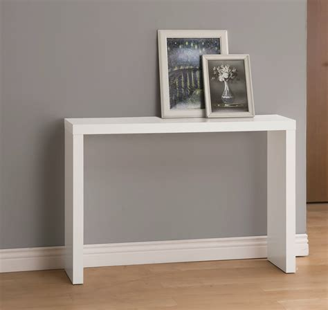 White Entrance Table White Finish Modern Console Sofa Entry Table
