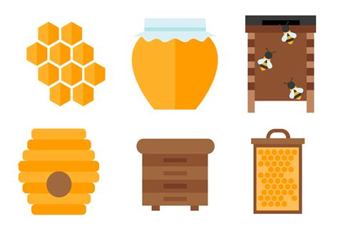 Original Reg A Free Used Bee honey vector free vector stock graphics images