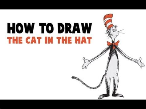 doodle cat how to make a hat how to draw the cat in the hat in easy step by step
