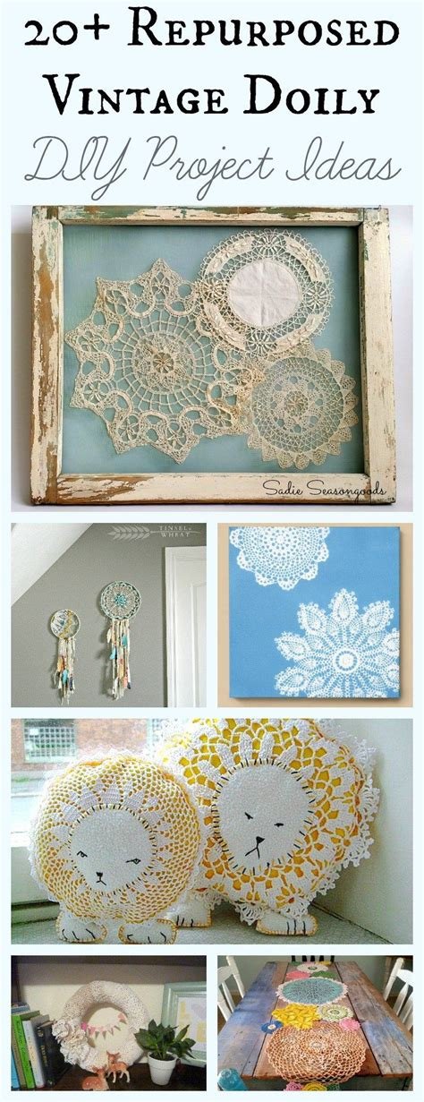 doily craft projects repurposed and upcycled vintage doily diy craft projects