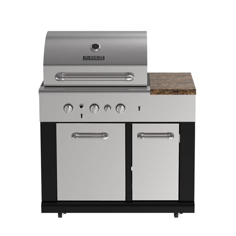 master forge 3 burner modular outdoor sink and side burners shop master forge modular outdoor kitchen 3 burner modular