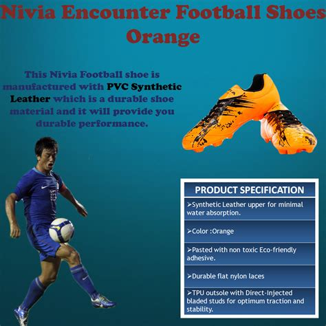 encounter football shoes nivia encounter football shoes orange buy nivia