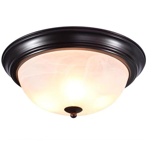 11 quot 13 quot 15 quot rubbed bronze flush mount ceiling light