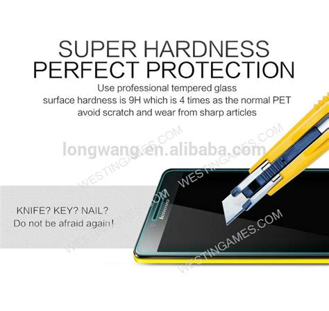 Ultra Thin For Lenovo A6000 9h ultra thin tempered glass screen protector glass