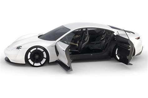 electric porsche mission e porsche mission e electric sports car has holograms