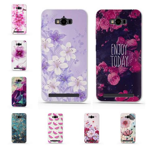 soft tpu for asus zenfone max zc550kl mobile phone back cover 3d printed flower for