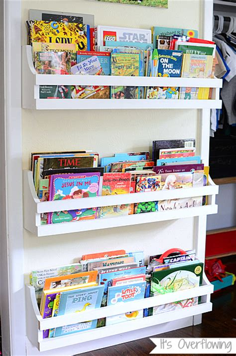 hanging bookshelves for kids rooms with simple design craftionary