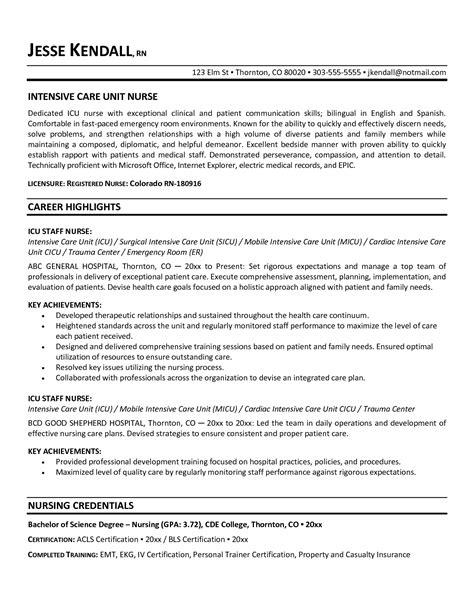 charge nurse resume download registered nurse resume