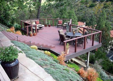 Steep Slope Garden Ideas Waters Wise Landscape Design Hillside Deck Pinterest Landscape Designs Landscaping And