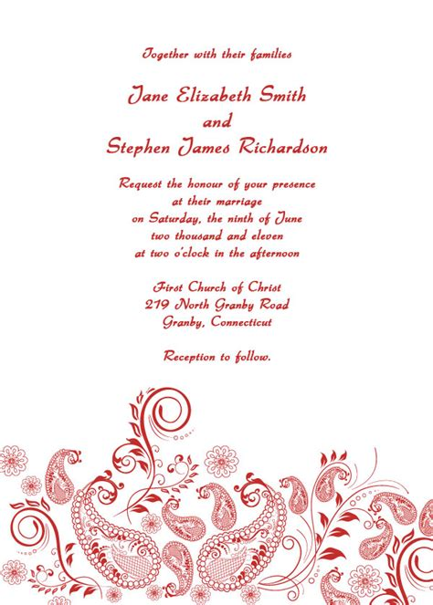 formal wedding invitations free printable wedding invitations
