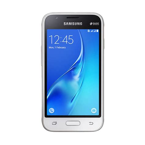 Hp Samsung Galaxy J1 White Jual Samsung Galaxy J1 Mini Sm J105f Smartphone White 8 Gb Harga Kualitas